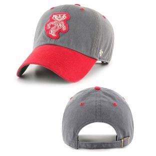 Wisconsin Badgers '47 Brand Gray & Red Retro Prewett Adjustable Hat