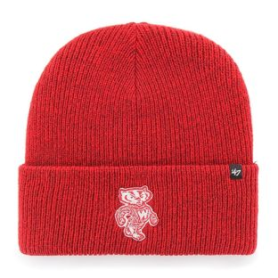 Wisconsin Badgers '47 Brand Red Retro Brain Freeze Cuffed Knit