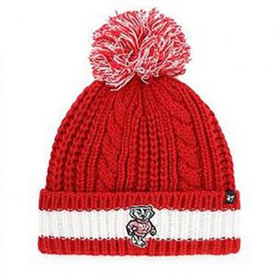 Wisconsin Badgers '47 Brand Women's Sorority Pom Knit
