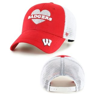 Wisconsin Badgers '47 Brand Youth Red Sweetheart Adjustable Cap