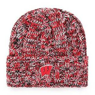Wisconsin Badgers '47 Brand Women's Red White Black Trio Cuffed Knit