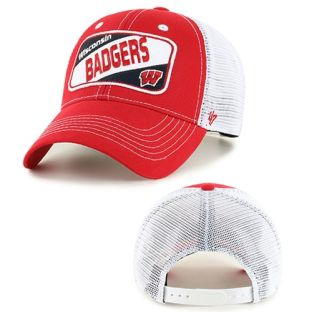 Wisconsin Badgers '47 Brand Youth Red Woodlawn Adjustable Cap
