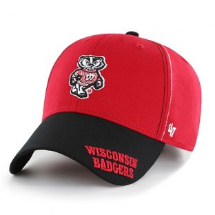 Wisconsin Badgers '47 Brand Youth Red Cross Stack Adjustable Hat