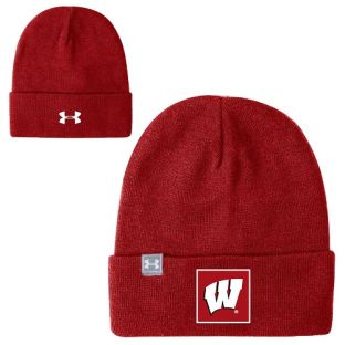 Wisconsin Badgers Under Armour Sideline Truckstop Beanie Knit