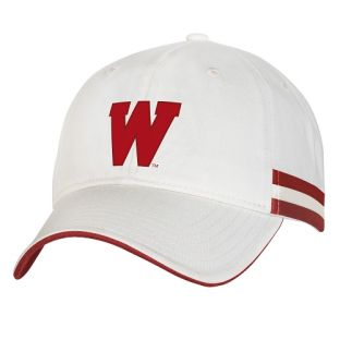 Wisconsin Badgers Under Armour White Iconic Striped Adjustable Cap