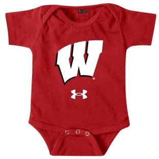 Wisconsin Badgers Under Armour Red Infant Motion W Tech Onesie