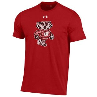 Wisconsin Badgers Under Armour Full Bucky Logo Cotton T-Shirt