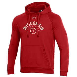 Wisconsin Badgers Wrestling Under Armour Red Arc All Day Hooded Sweatshirt