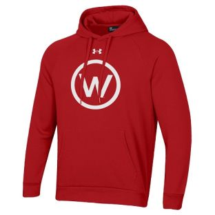 Wisconsin Badgers Under Armour Red Vault Circle W Hooded Sweatshirt