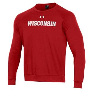Wisconsin Badgers Under Armour 2020 Sideline All Day Fleece Crewneck