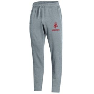 Wisconsin Badgers Under Armour Gray Vault Bucky All Day Open Bottom Pant
