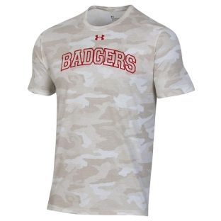 Wisconsin Badgers Under Armour Camo Badgers Arch T-Shirt