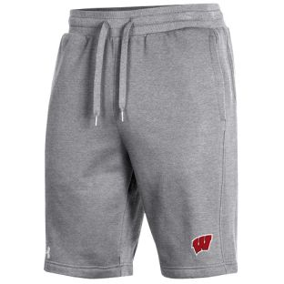 Wisconsin Badgers Under Armour Sideline Gray All Day Fleece Short