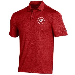 Wisconsin Badgers Under Armour Red 2021 Basketball Coaches Playoff Polo