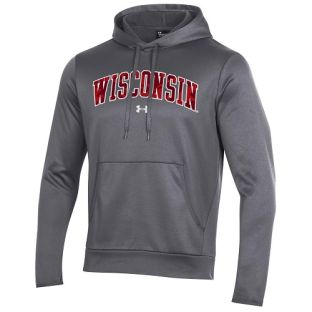 Wisconsin Badgers Under Armour Carbon AF Camo Twill Hooded Sweatshirt
