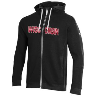 Wisconsin Badgers Under Armour Tackle Twill Jacquard Zip Hooded Sweatshirt