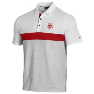 Wisconsin Badgers Under Armour Retro Bucky Skybox Polo