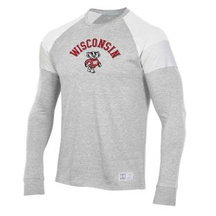 Wisconsin Badgers Under Armour Silver Gameday Bucky Insert Long Sleeve T-Shirt