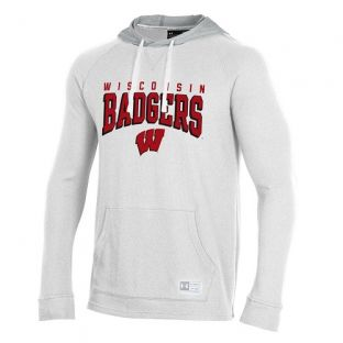 Wisconsin Badgers Under Armour Onyx White W Off Grid Waffle Stack Hood