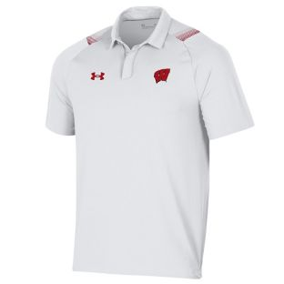 Wisconsin Badgers Under Armour 2021 Sideline Isochill Polo