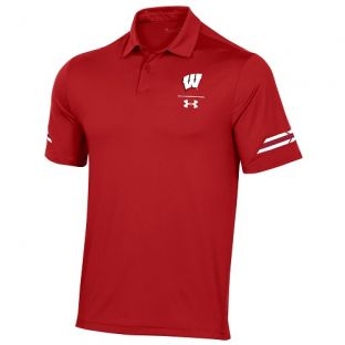 Wisconsin Badgers Under Armour 2020 Sideline Elevated Polo