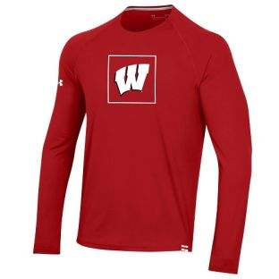 Wisconsin Badgers Under Armour 2020 Sideline Training Long Sleeve T-Shirt
