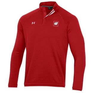 Wisconsin Badgers Under Armour Sideline Campus Fleece 1/4 Snap