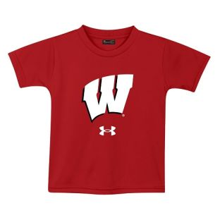 Wisconsin Badgers Under Armour Red Toddler Motion W Tech T-Shirt