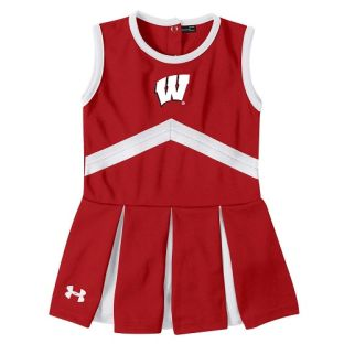 Wisconsin Badgers Under Armour Red Toddler Cheer Dress