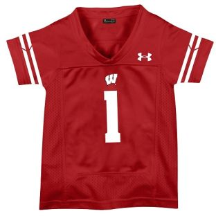 Wisconsin Badgers Under Armour Red Toddler Replica Football Jersey
