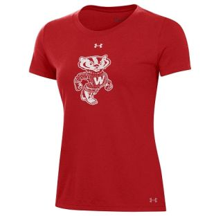 Wisconsin Badgers Under Armour Red Women's Bucky Performance Cotton T-Shirt