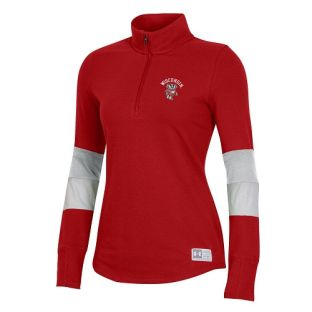 Wisconsin Badgers Under Armour Red Women's Arch Bucky Game Day 1/4 Zip