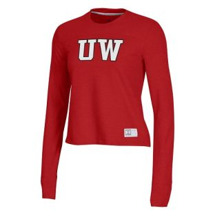 Wisconsin Badgers Under Armour Red Women's Gameday Crewneck Sweatshirt
