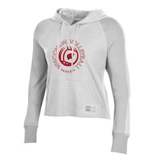 Wisconsin Badgers Under Armour Onyx White Women's Volleyball Waffle Hood