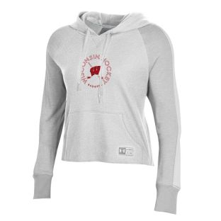 Wisconsin Badgers Under Armour Onyx White Women's Hockey Waffle Hood