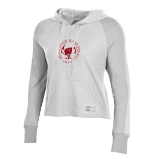 Wisconsin Badgers Under Armour Onyx White Women's Basketball Waffle Hood