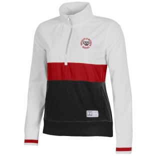 Wisconsin Badgers Under Armour Red & Onyx Women's Circle Anorak 1/4 Zip Jacket