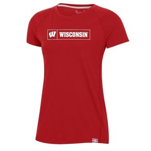 Wisconsin Badgers Under Armour Red Women's 2020 Sideline Pinnacle T-Shirt