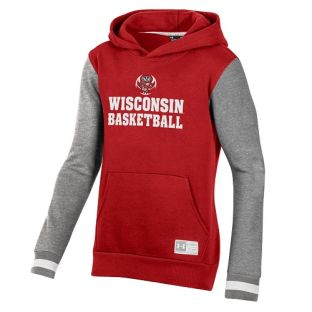 Wisconsin Badgers Under Armour Youth Red Ultimate Basketball Hooded Sweatshirt