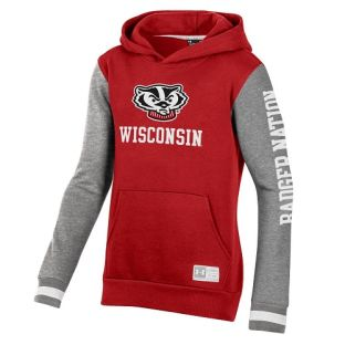 Wisconsin Badgers Under Armour Youth Red Ultimate Badger Nation Hooded Sweatshirt