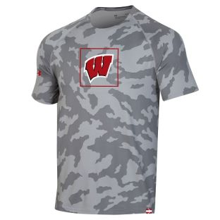 Wisconsin Badgers Under Armour Youth Sideline Training T-Shirt