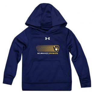 Milwaukee Brewers Under Armour Navy Youth Coldgear Armour Hood