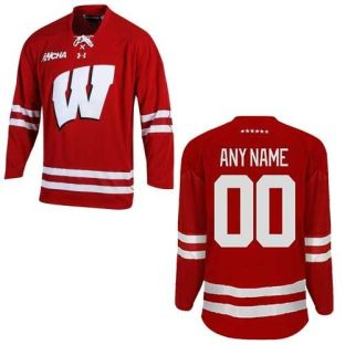 Wisconsin Badgers Under Armour Custom Women's Hockey Jersey