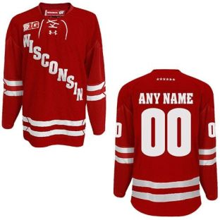 Wisconsin Badgers Under Armour Custom Hockey Jersey