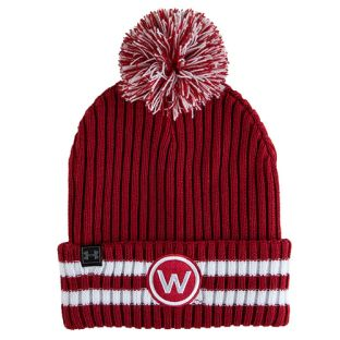 Wisconsin Badgers Under Armour Red Retro Pom Knit