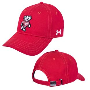 Wisconsin Badgers Under Armour Washed Bucky Adjustable Hat