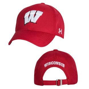 Wisconsin Badgers Under Armour Structured W Adjustable Cap