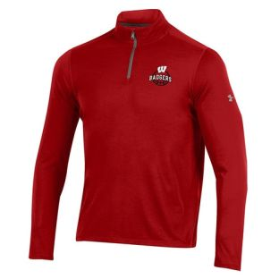 Wisconsin Badgers Basketball Under Armour Red Threadborne 1/4 Zip