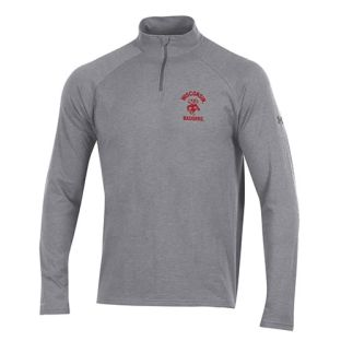 Wisconsin Badgers Under Armour Gray Retro Bucky Cotton 1/4 Zip