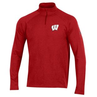 Wisconsin Badgers Under Armour W Logo Cotton 1/4 Zip